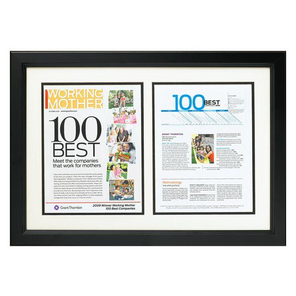 Custom framed magazine article: black satin #frame 1\