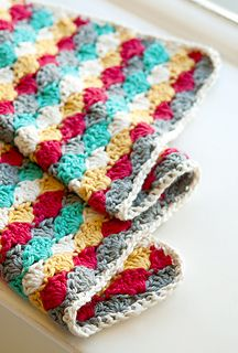 Beachcomber Baby Blanket, free pattern by Culture of Crafting