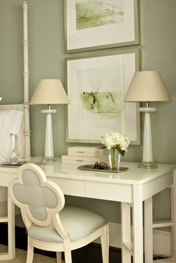 Bedrooms Sage Green Walls Mint Green Lamps Ivory Glossy