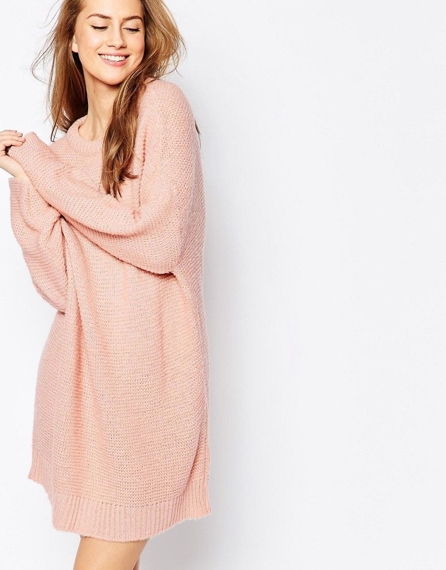 Image 1 of ASOS Oversized Jumper Dress In Chunky Knit