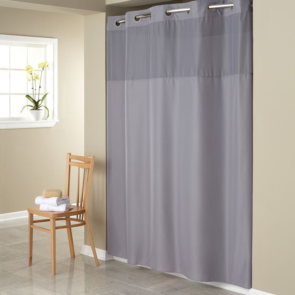 Hookless Mystery Shower Curtain Liner Fabric Shower Curtains