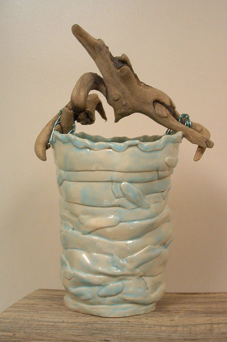 Blue starr gallery more driftwood handled baskets clay
