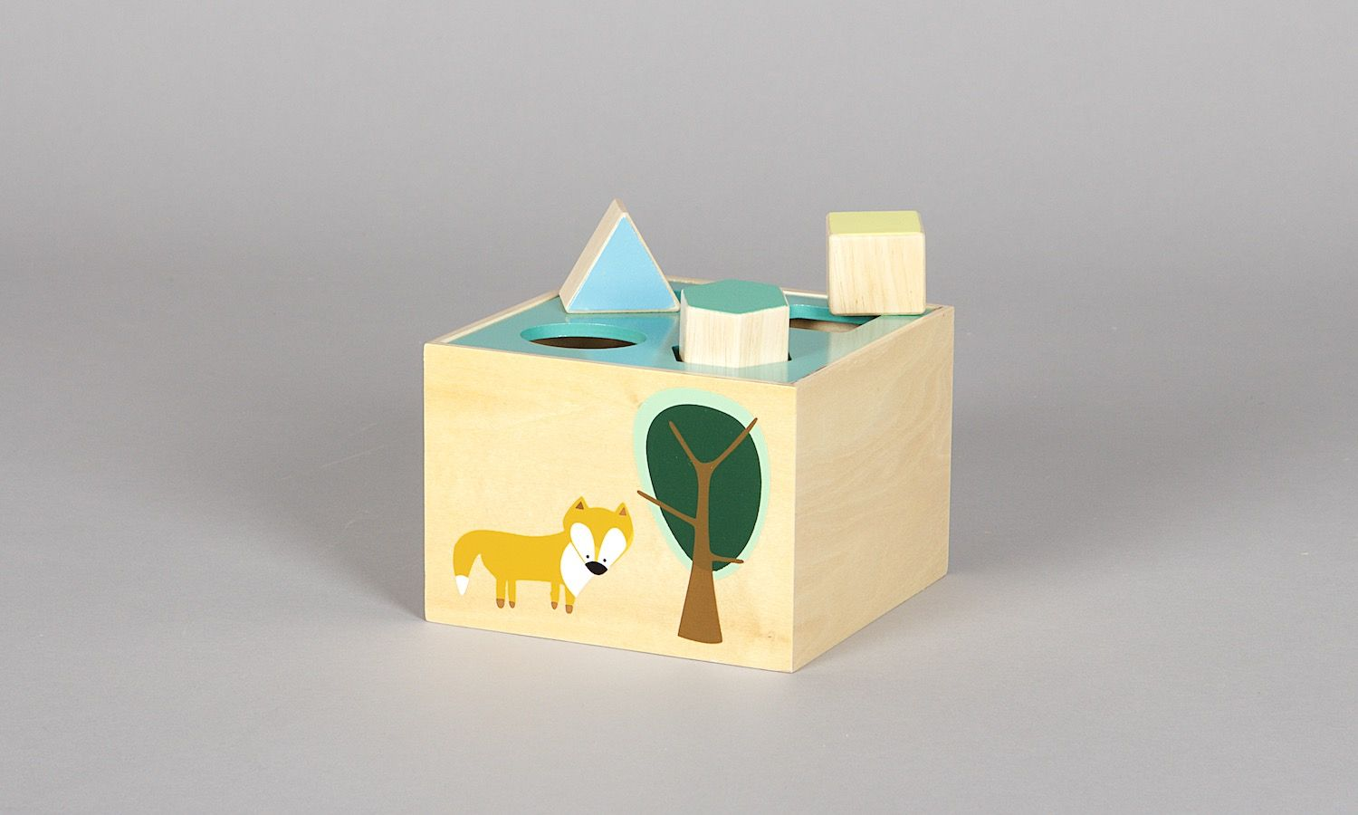 Wooden Toy Box FOREST BOY