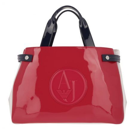 Armani Jeans Tasche Bicolor Shopping Bag Pink Blue White In Rot