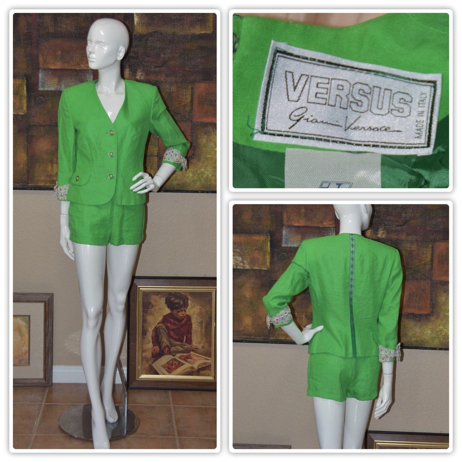 199 00 Gianni Versace Versus Haute Couture Sophisticated Short Suit Size 6 Gianni Versace Versus Couture Sophisti Gianni Versace Short Suit Couture