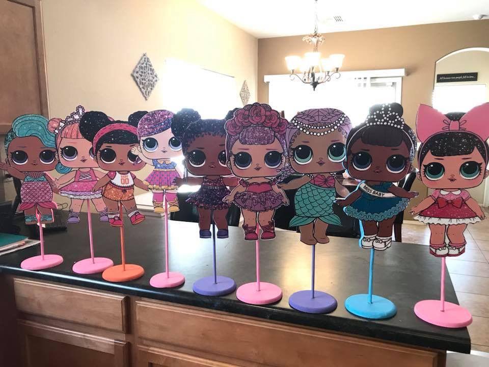 Lol Surprise Dolls Table Centerpieces Festa Samia Lol Pinterest