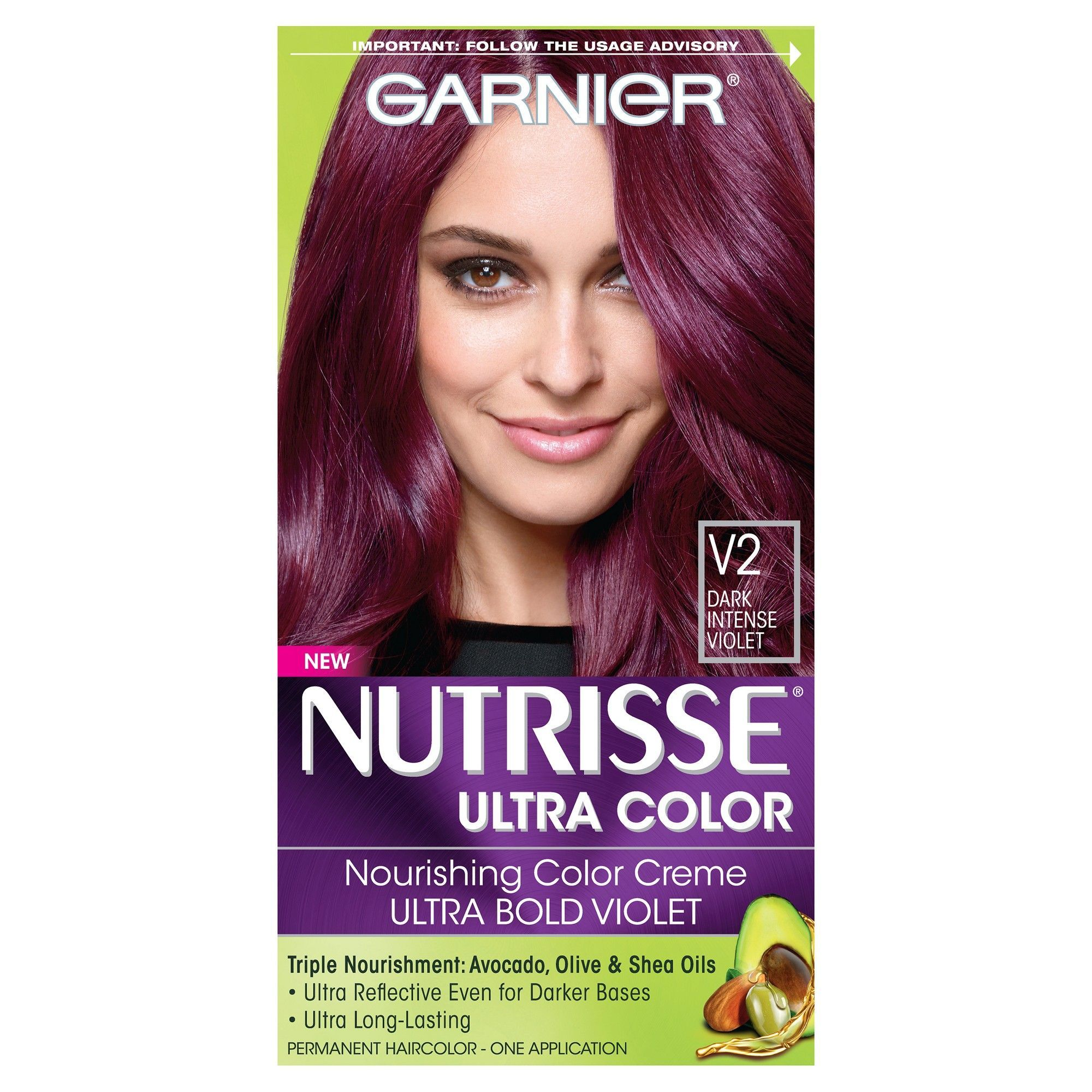 Garnier Nutrisse Nourishing Color Creme V2 Dark Intense Violet