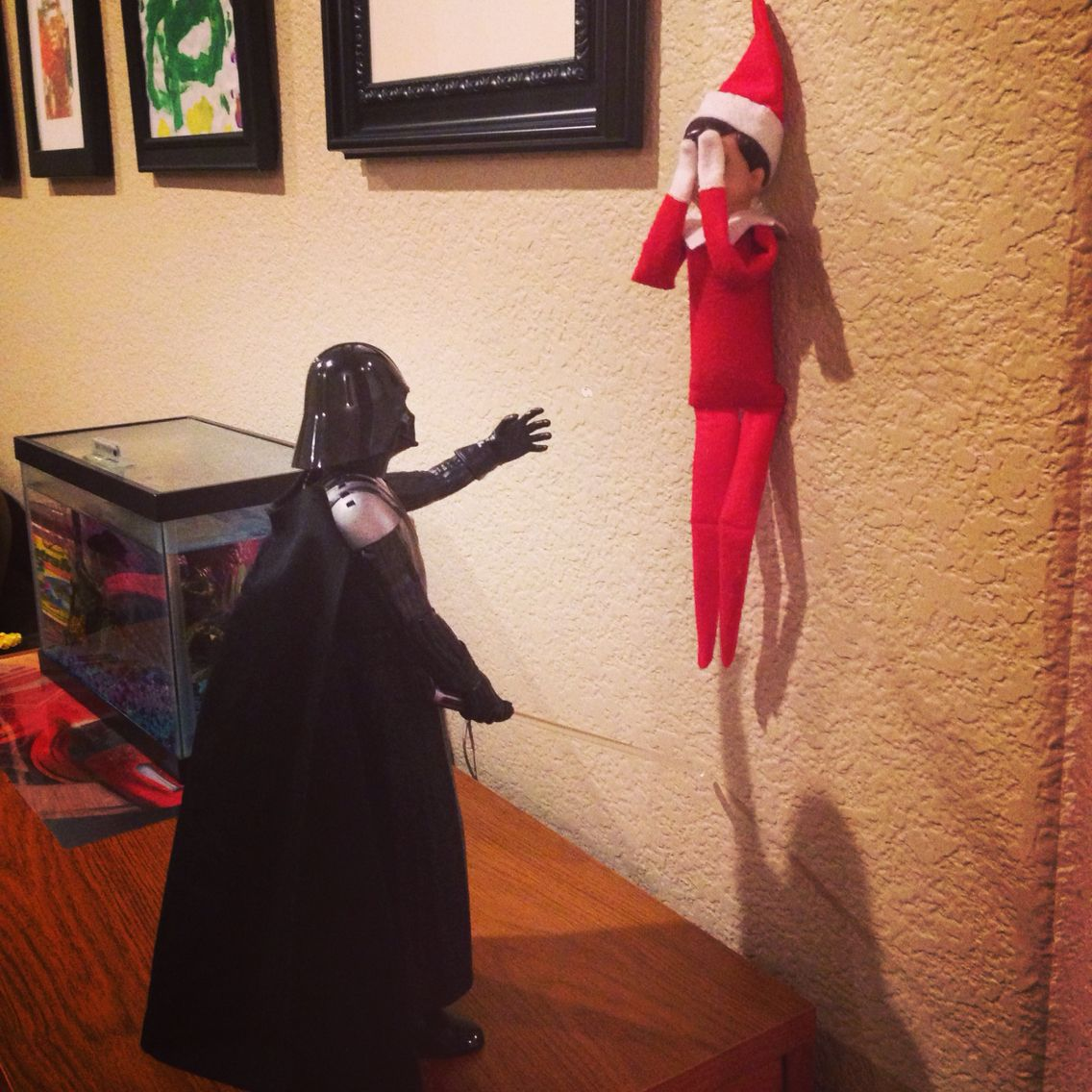 No Darth Vader......Elfie will not join the Dark Side. Elf on the ...