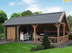 Garden Pleasure Houten veranda, terrasoverkapping, houten carport ...