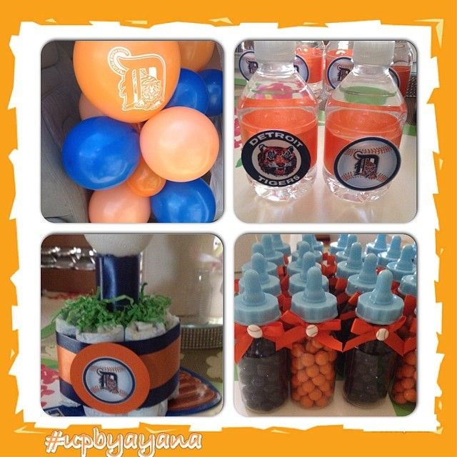 Detroit Tigers Baby Shower Decorations  from i.pinimg.com