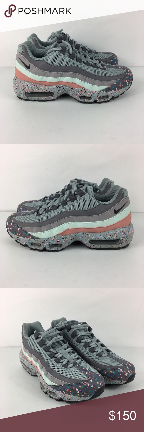 fb07931c8be4 Nike Air Max 95 SE Confetti Womens Running Shoes Nike Air Max 95 SE  Confetti Womens 918413-002 Pumice Grey Running Shoes Size 8. Condition  New  without box.