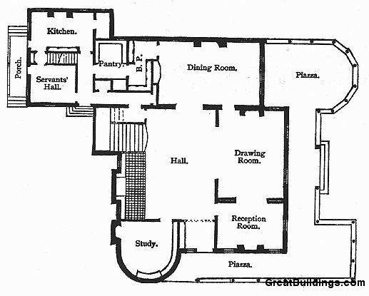 Isaac bell house floor plan