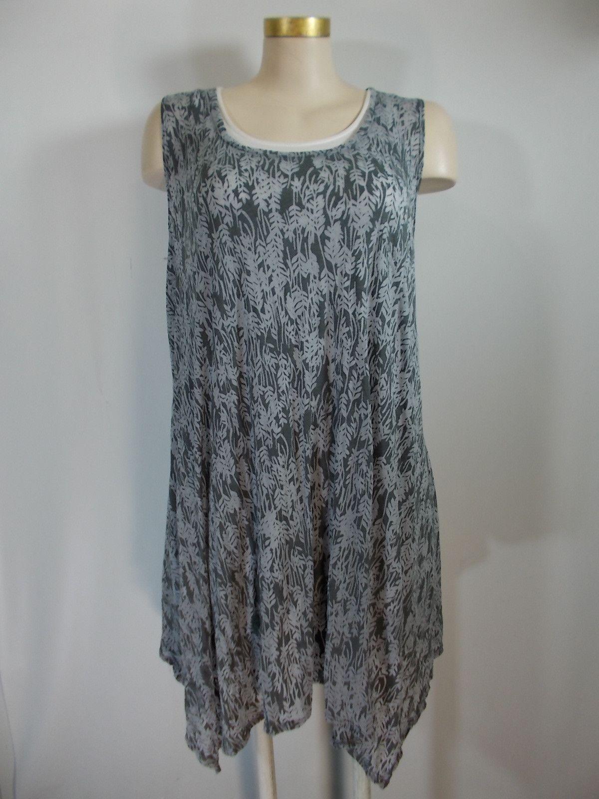 Chalet - Crinkle Vintage Burnout Sleeveless Amelia Tunic/Dress