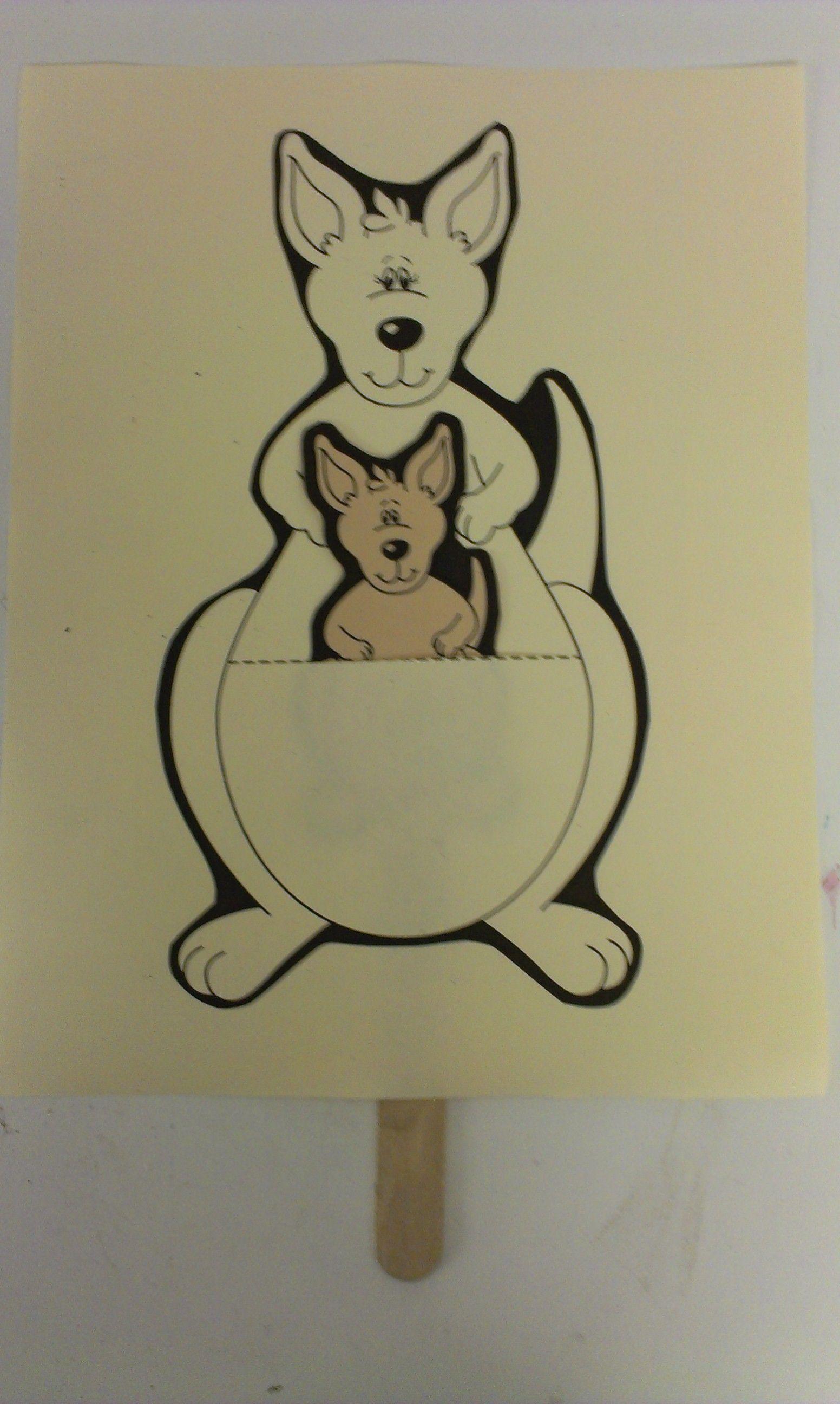 Kangaroo Craft For Preschoolers