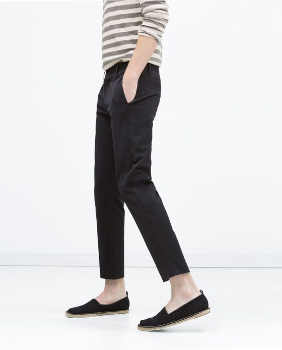 80d1d919 ZARA - MAN - Cropped trousers | voodoochile 2.0 | Cropped trousers ...