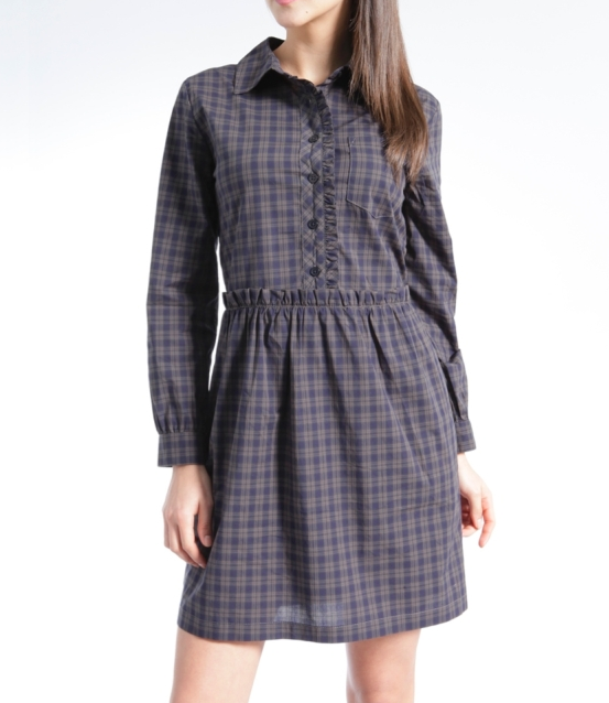 Nebula plaid shirtdress: Brooklyn Industries