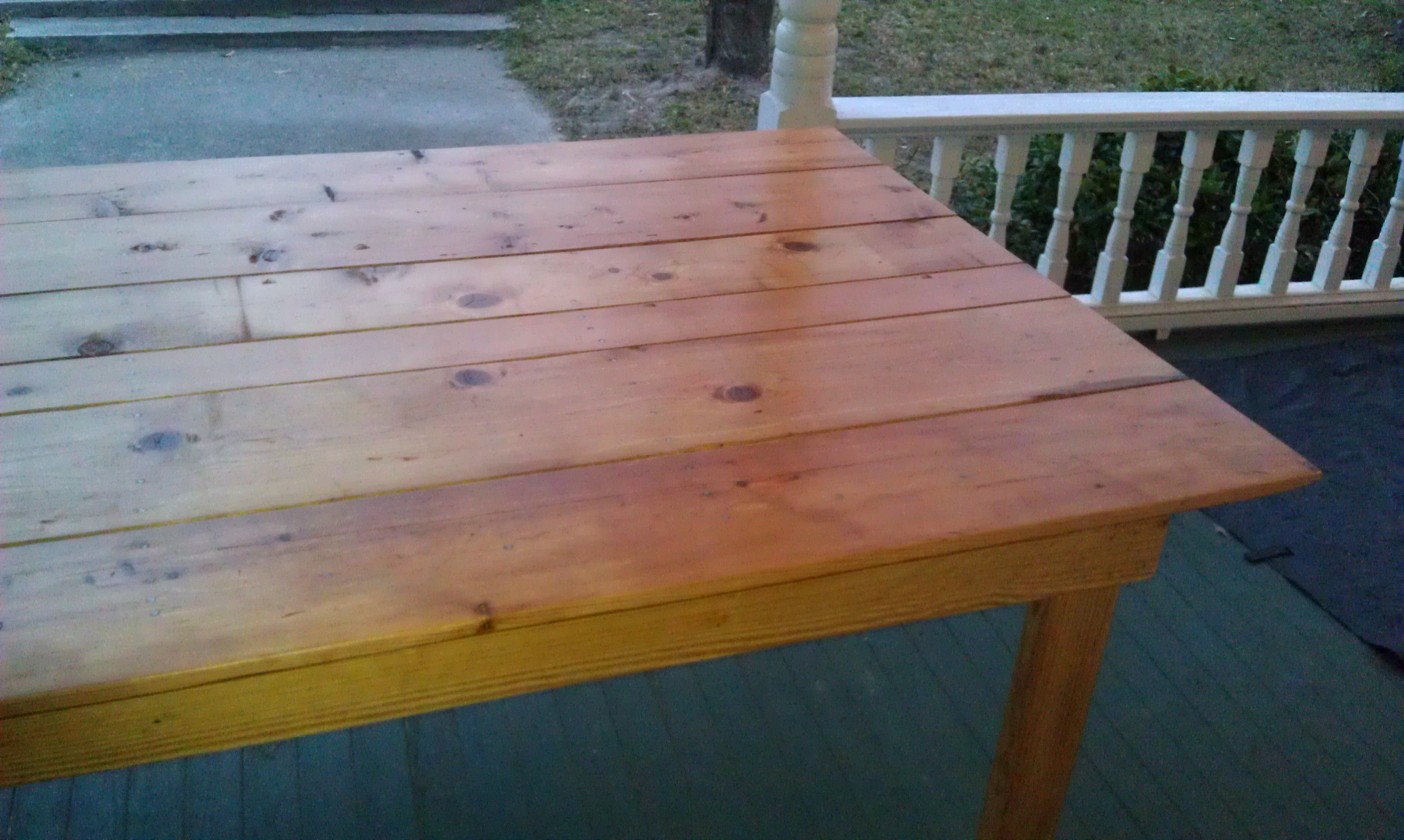 Pine Farm Table 2 Coats Of Clear Danish Oil And 5 Coats Of