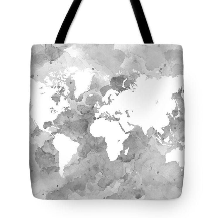 World map tote bag all over print tote gray tote bag design 49 tote bag all over print design 49 world map grayscale grey gray digital by ldumas artbylucie totes by artbylucie on etsy gumiabroncs Images