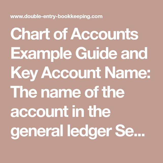 Chart of Accounts Basics | Food and beverage | Chart of