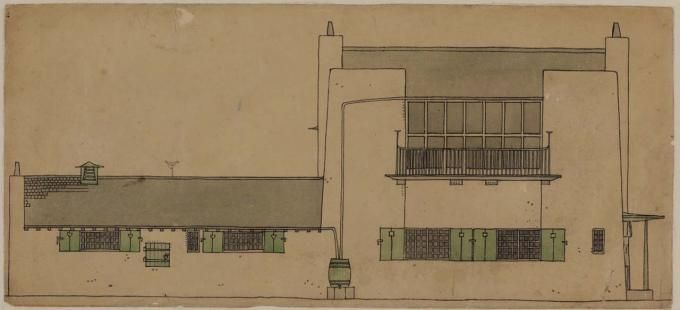 Artist's House in the country. Image © Hunterian, University of Glasgow. Courtesy of RIBA. Click above to see larger image.