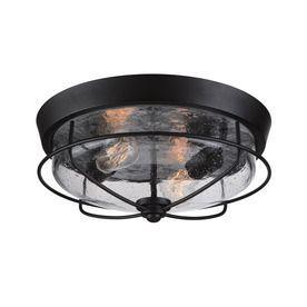 Shop portfolio valdara 1475 in w matte black outdoor flush mount shop portfolio valdara 1475 in w matte black outdoor flush mount light at lowes aloadofball Images