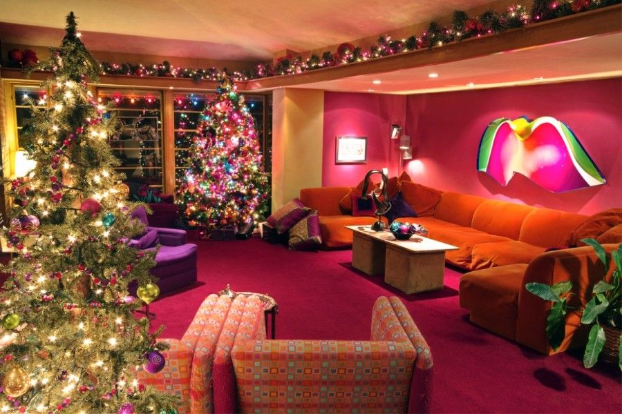 Living Room Awesome Christmas Design With Best Decoration And Full Colour Also