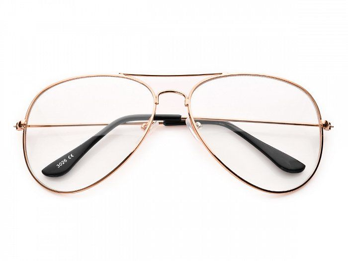 Zlote Okulary Zerowki Druciane Pilotki Clearlenses Zerowki Eyewear Eyeglasses Glasses Square Glass Glass