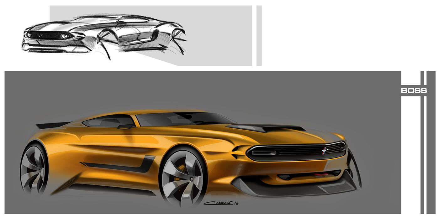 Mustang Muscle Cars Pt On Behance Transportation Sketches