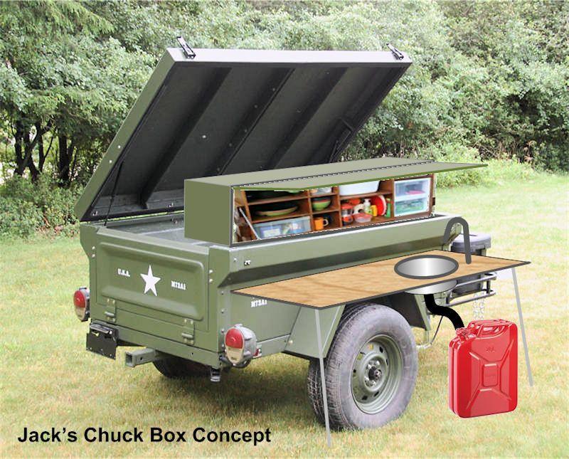 Fiberglass M416 M100 Military Style Trailer Tub Kit