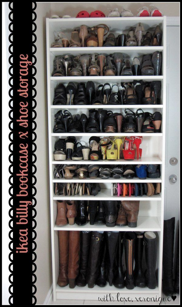 ikea billy bookcase 29 heels 9 flats 13 sandals 4. Black Bedroom Furniture Sets. Home Design Ideas