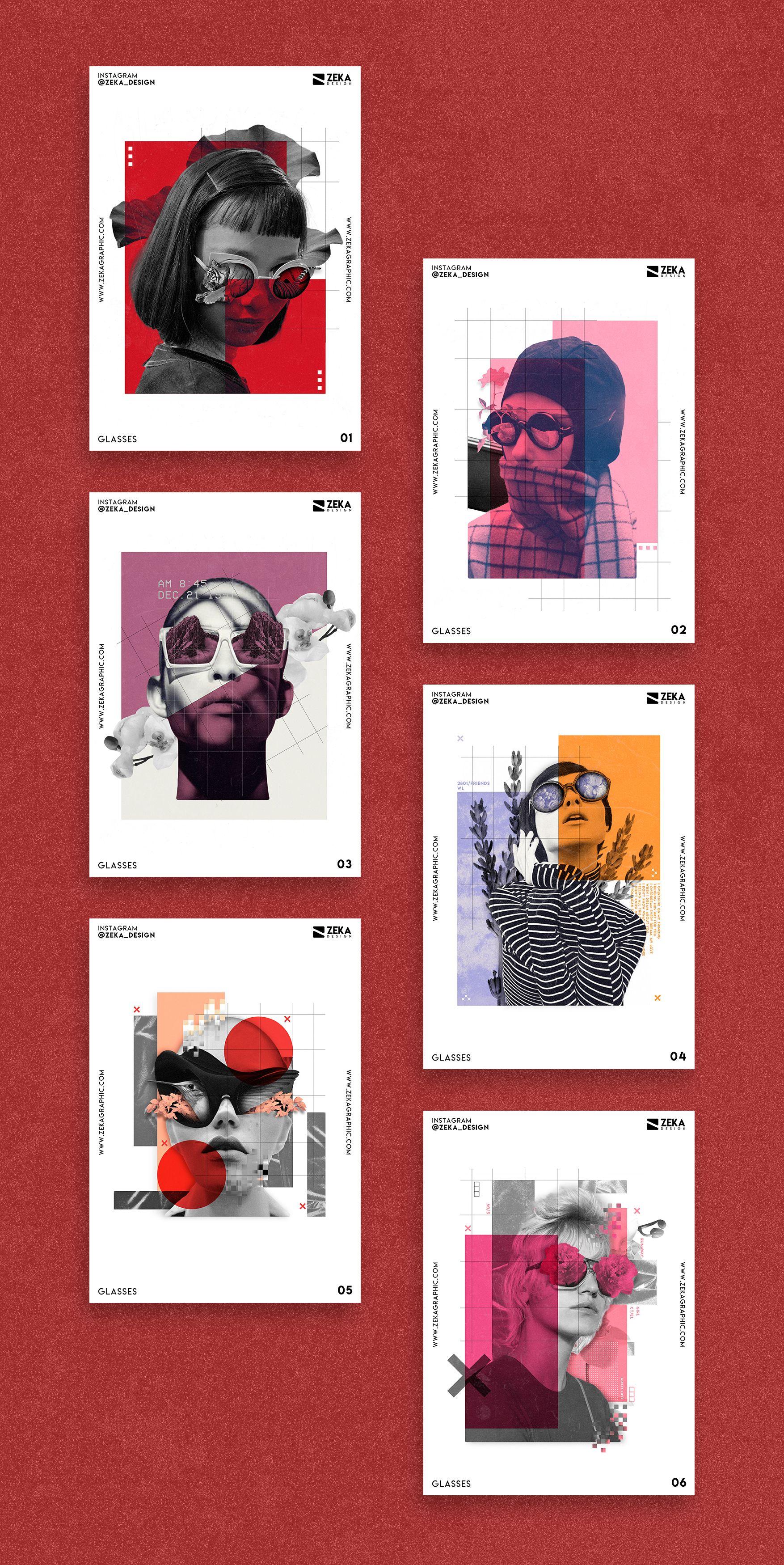 Glasses Poster Design Inspiration Project Minimalist And Creative Graphic Design Graphic Design Layouts Creative Graphic Design Graphic Design Photoshop
