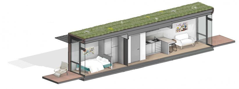 Shipping Container Micro Homes With Green Roofs Planned For Uk Green Roof Shipping Container Micro House