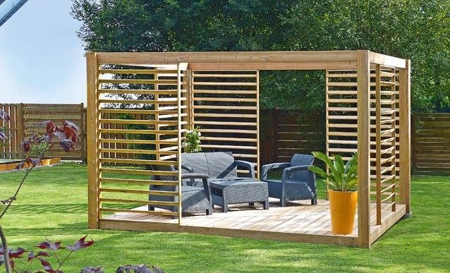 monter soi m me une pergola en bois massif moins de 700 pergola construire et jardins. Black Bedroom Furniture Sets. Home Design Ideas