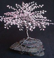 Cherry Blossom Spring Beaded Bonsai by Creativecravings