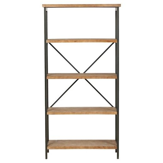 The Christopher Knight Home Perth five shelf bookcase is built in the classic industrial furniture look. Built from wood and metal, this bookcase gives you the style while maintaining that rustic solid built look. The design adds that unique accent to any room you put it in.