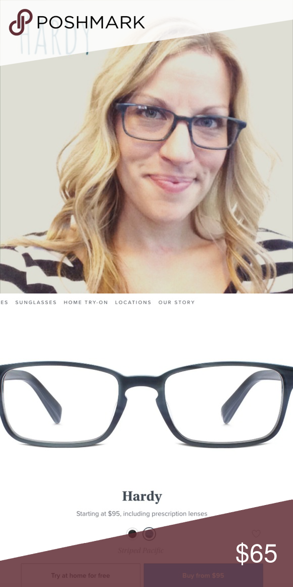 d30e516ac77 Warby Parker Striped Pacific Hardy Frames NWT Never worn