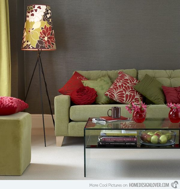 15 Lovely Grey And Green Living Rooms Home Design Lover Living Room Colors Living Room Red Living Room Color Schemes