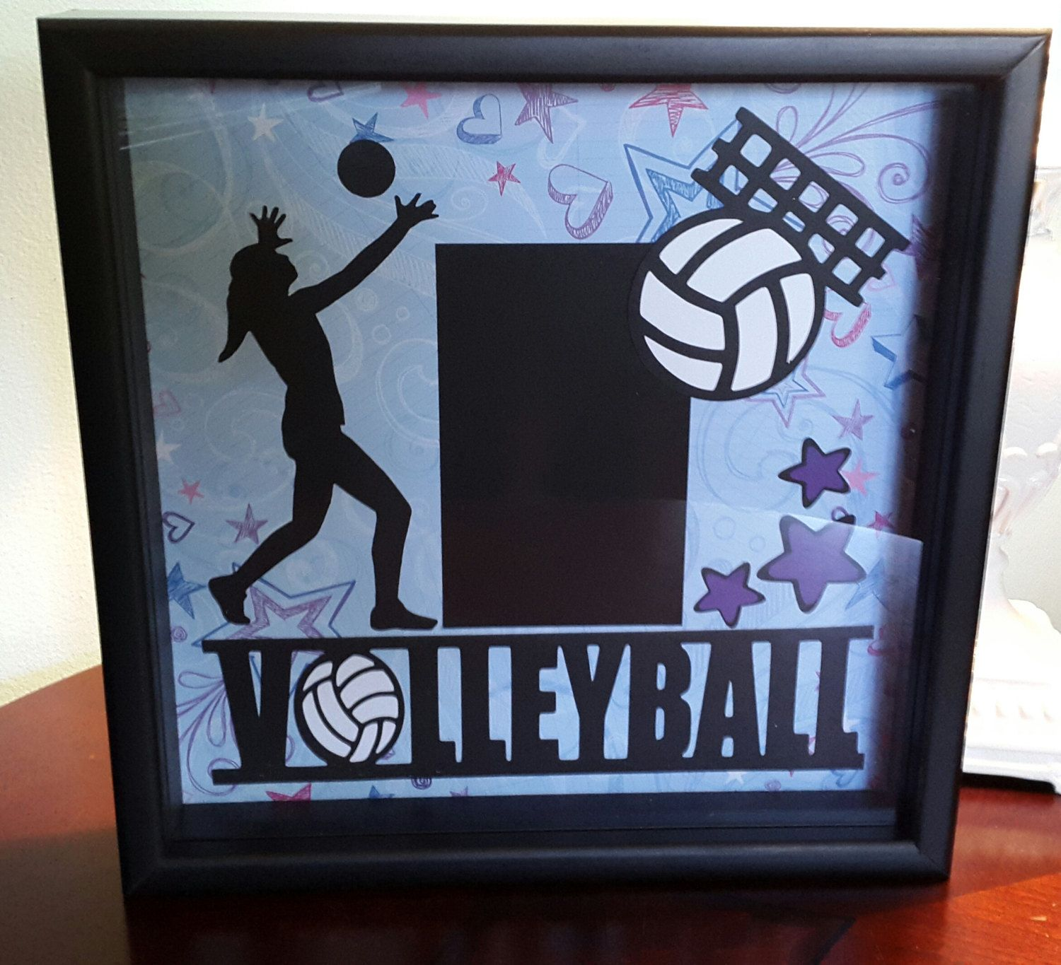 60df618f018 12x12 shadow box frame volleyball by ScrapbookEscape on Etsy. 12x12 shadow  box frame volleyball by ScrapbookEscape on Etsy Shadow Box Frames