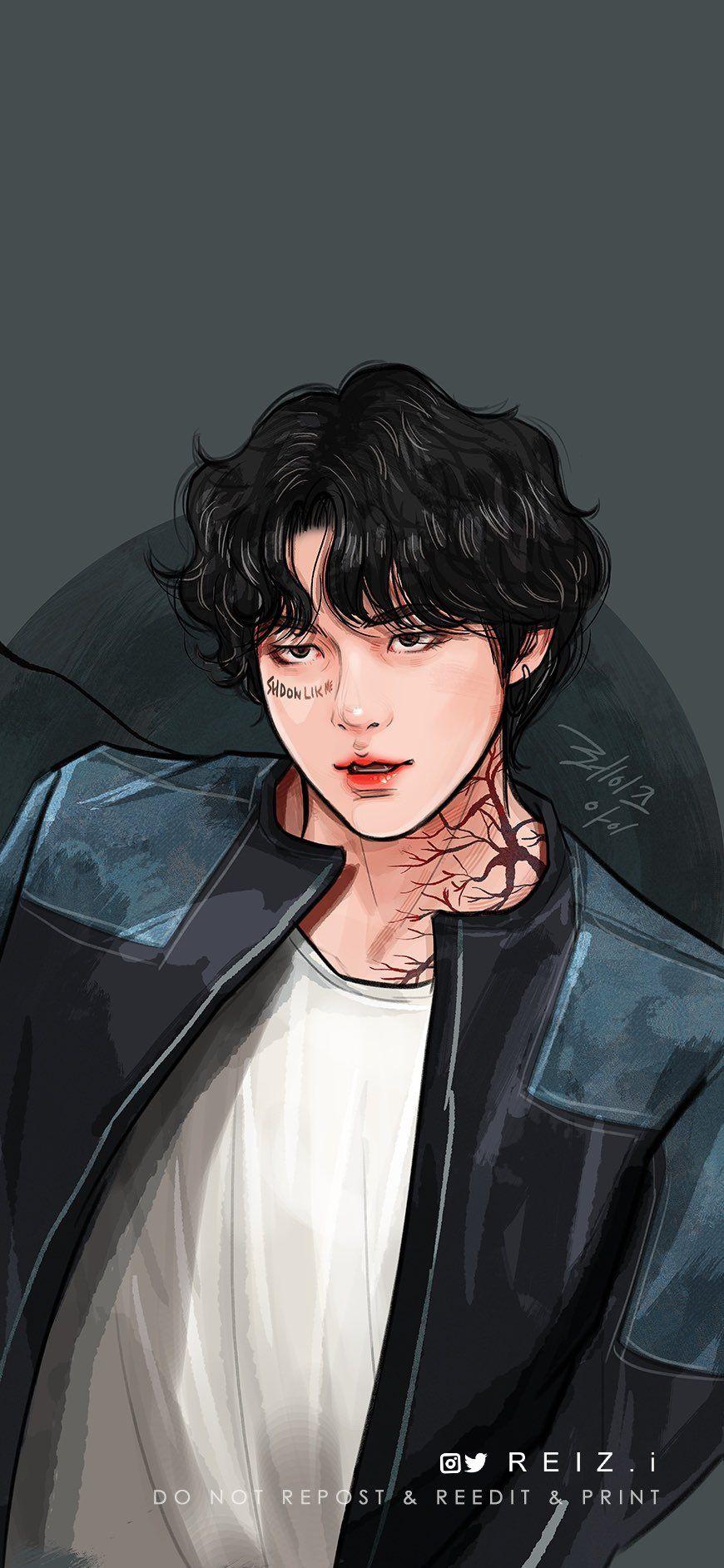 Reiz I On Twitter Bts Fanart Taehyung Fanart Illustration Art Wallpaper