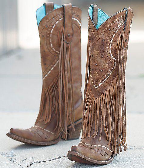 Fringe cowboy boots