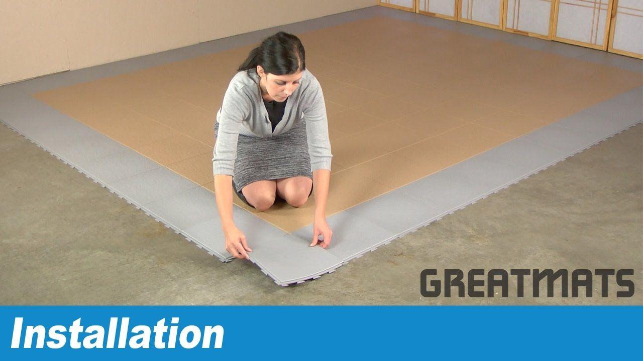 How To Install Hiddenlock Pvc Tiles Plastic Flooring Pinterest
