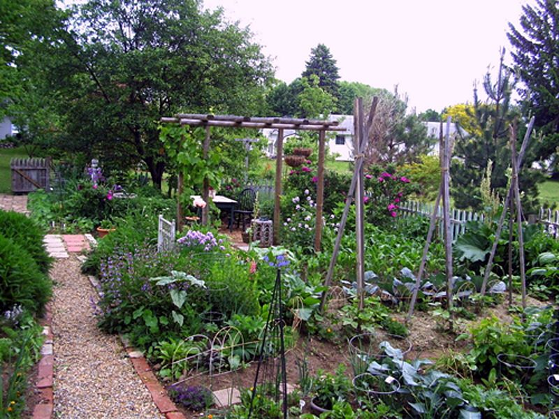 Cottage Style Vegetable Garden