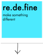 re.de.fine make something different
