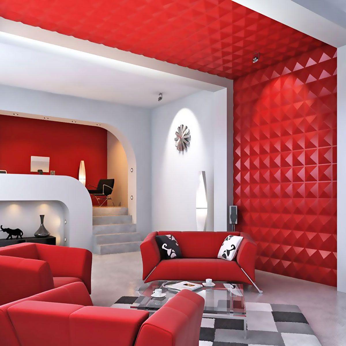 Decorative Wall Tiles For Living Room Pleasing 19 58Inch W X 19 58Inch H Richmond Endurawall Decorative 3D Design Ideas