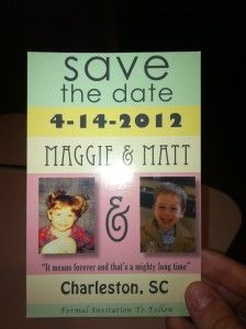 getting our postcard save the date save the date save the date