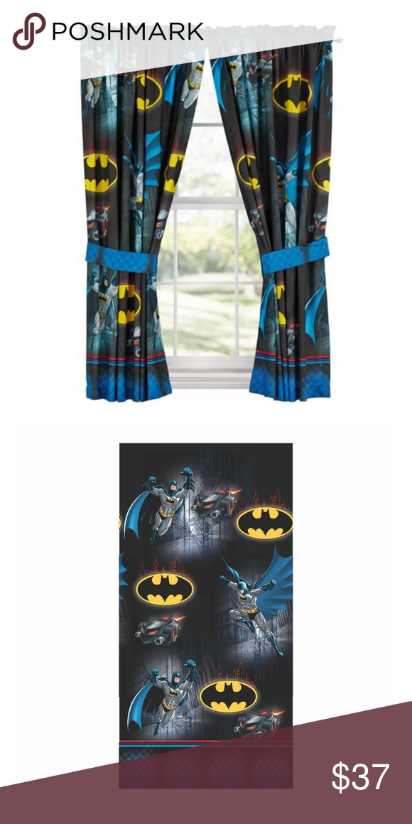 Batman Boys Bedroom Curtain Window Panel Set Product Highlights 63