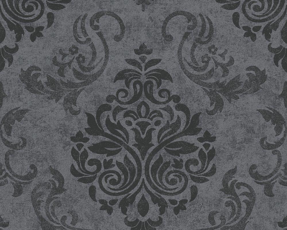 A.S. Création Tapete 953723: Tapete, Grau, Metallics, Schwarz, Natur, Modern