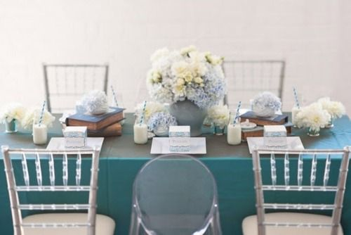 table setting #wedding #blue