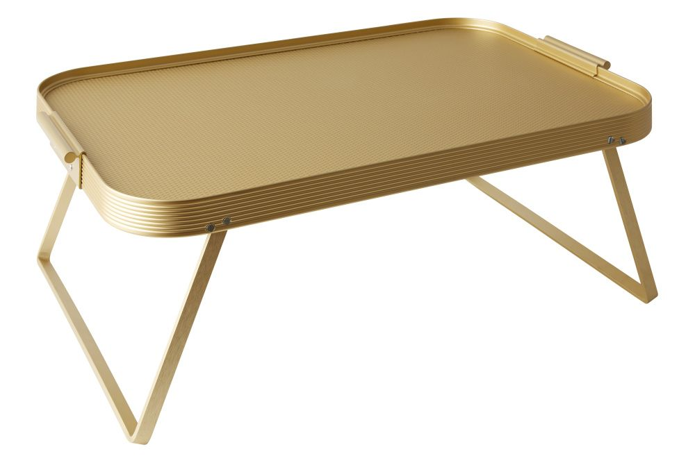 The Kaymet Lap Tray Is Made From Anodised Aluminium With Fold Out Legs With Images Lap Tray Modern Serving Trays