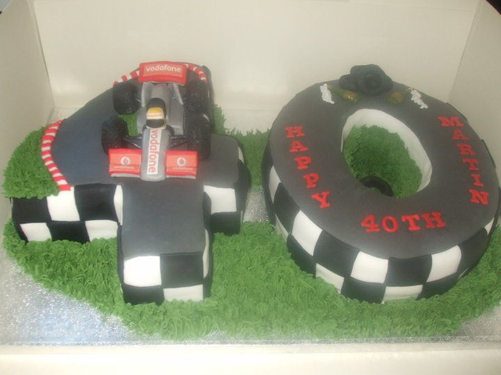 Formula 1 Racing 40th birthday cake I have just finished this